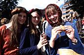 Happy Medieval Girls, Horsens Middelalder Festival, Medieval festival, Horsens, Southern Jutland, Denmark