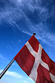 Dannebrog, Danish Flag, Aboard the Laeso Ferry, Denmark