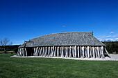Old Viking House, Vikingeborgen Fyrkat, Near Hobro, Central Jutland, Denmark