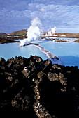Blue Lagoon Steam, Svartsengi Geothermal Plant, Near Grindavik, Iceland
