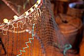 Fishing net, Turnhus Maritime Museum, Ísafjörður, Isafj'rdur, Ísafjarðarbær, Iceland