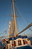 Name of the ship on the cabine, Star Flyer, Cruising, Aegean Sea, Greece