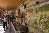Amphoras exhibition, Paintings on Castle Wall, St. Peter's Castle, Bodrum, Turkish Aegean, Turkey