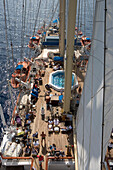 View from Crows Nest, Star Flyer, Aegean Sea, Cyclades, Greece