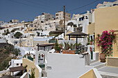 Cliffside Houses and Hotels, Fira, Santorini, Cyclades, Greece