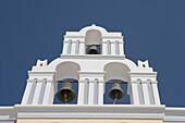 Orthodox Church Bell Tower, Fira, Santorini, Cyclades, Greece