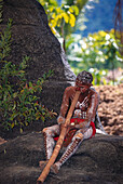 Aborigine, Tjapukai Dance Theatre, near Cairns Queensland, Australia
