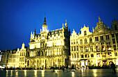 Zunfthaeuser, Grand Place, Bruessel Belgien