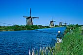 Windmuehle, Angler, Kinderdijk Niederlande