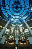 Glass dome of the Schadow Arcades, Duesseldorf, North Rhine Westphalia, Germany