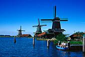 Windmuehlen, Zaandijk, Freilichtmuseum Zaanse Schans Niederlande