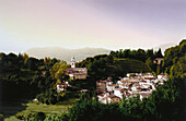 View of a typical mountain village, Ceresio, Ticino, Switzerland