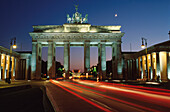 The Brandenburg Gate at night, Berlin, Germany, Europe