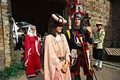 Knight festival at Satzvey castle, near Mechernich, Eifel, Rheinland Pfalz, Germany