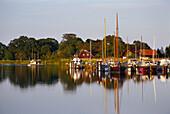 Prerow Hafen und Spiegelung, Fischland-Darß-Zingst, Mecklenburg- Vorpommern, Deutschland