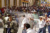 Carnaval de Negros y Blancos, Police having fun at the Carneval in Pasto, Colombia