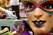 Carroza with mask, Carnaval de Negros y Blancos, Pasto, Colombia, South America