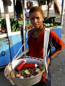 Street Vendor Bazurto, Mercado Bazurto, Cartagena de Indias, Colombia, South America