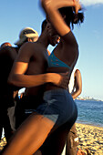 Teenagers, Salsa Party on the beach, Salvador de Bahía, Brazil