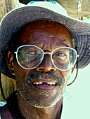 Man with Glasses, Carribbean Beach, Cartagena, Colombia, South America