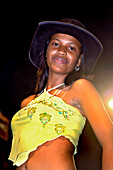 Colombian Girl with Cowboy Hat, Baranquilla, Carnival, Colombia, South America