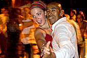 Salsa Praterinsel, Couple Dancing Salsa, Turning, Southamerican Music, Cuban Style