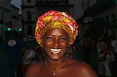 Laughing young woman, Pelourinho, Salvador da Bahia, Brazil, South America
