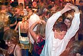 People dancing in 8 seasons Club, Nightlife, Munich, Bavaria, Germany