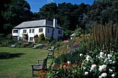 Idyllic garden round Inverewe House, Highlands, Scotland, Great Britain, Europe