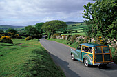 Dartmoor, Morris minor, Devon, England, United Kingdom