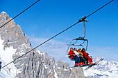 Lift, Ski Resort Tofana, Cortina D'Ampezzo Dolomiten, Italien