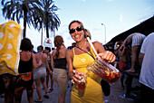 Bora Bora Disco Beach, Platja d'en Bossa Ibiza, Spain