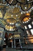 Interior design of Hagia Sophia, Sultanahmet, Istanbul, Turkey