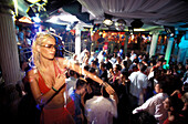 People dancing at Baia Imperiale Disco, Cattolica, Province of Rimini, Italy, Europe