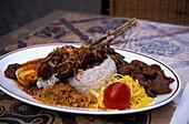 Indonesian Satay dish, Amsterdam Netherlands