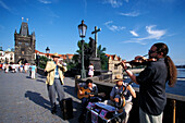 Musicians, Charles Bridge, Prague Czechia