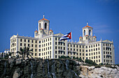 Exterior view of the Hotel National, Vedado, Havana, Cuba, Caribbean, America