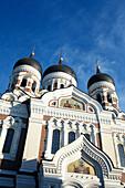 Alexander Nevski Cathedral in the sunlight, Toompea, Tallinn, Estonia, Europe