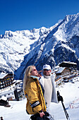 Couple at the Obstlerhuette, Soelden, Oetztal, Tyrol, Austria