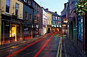 Shops in a narrow lane in Kinsale, Co. Cork, Ireland