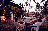 Restaurants, Evening Light, Beach, People, Evening light atmosphere in a restaurant, where people are sitting near the beach of Cabarete, Dominican Republic