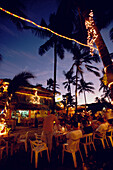 Bars and restaurants on the beach of Cabarete, Dominican Republic, Caribbean