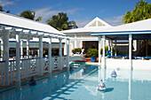 Hotelpool, Le Meridien, Saint-Francois, Pool in front of the Hotel La Cocoteraie, Grande Terre, Guadeloupe, Caribbean Sea, America