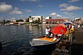 Fisher Boat, Market, Fresh Catch, Harbour, Fish selling, Quai de la Darse, Pointe-a-Pitre, Grande Terre, Guadeloupe, Caribbean Sea, America