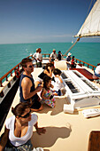 Tourists, Schooner sailing trip with the Weste, Key West, Florida Keys, Florida, USA
