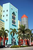 Neo Art Deco Style Buildings, South Beach, Miami, Florida, USA