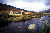 Ruines and river in the mountains, Wicklow Mountains, County Wicklow, County Wexford, Ireland