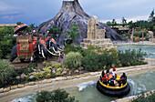 Amusement park, Gardaland, Peschiera, Lake Garda, Trentino Italien