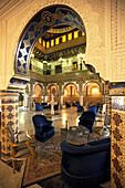 Interior design, Hotel Dar Cherait, Tozeur, Tunisia, North Africa, Africa