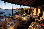 Restaurant, Porto Cervo, Costa Smeralda, Gallura, Sardinien Italien
